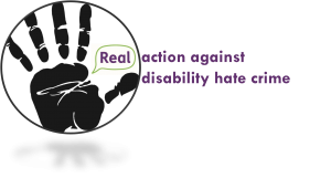 Real's disability hate crime logo