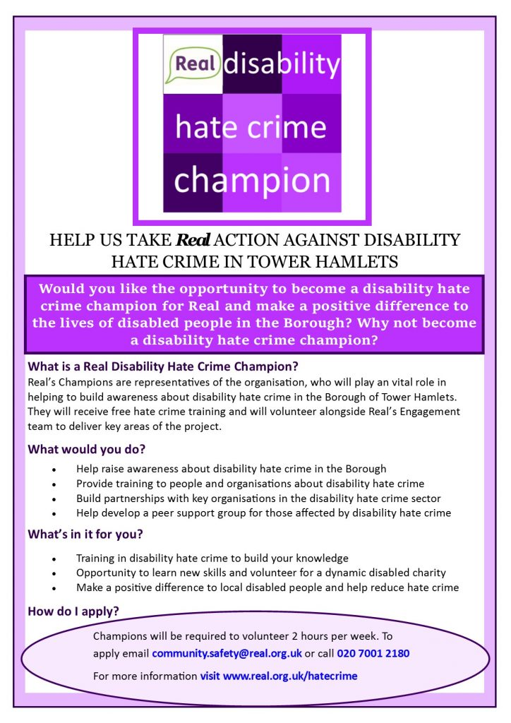 hate crime champion advert