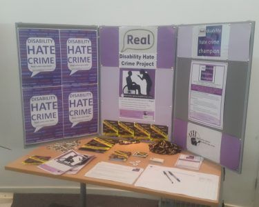This is a picture of Real's hate crime stall.